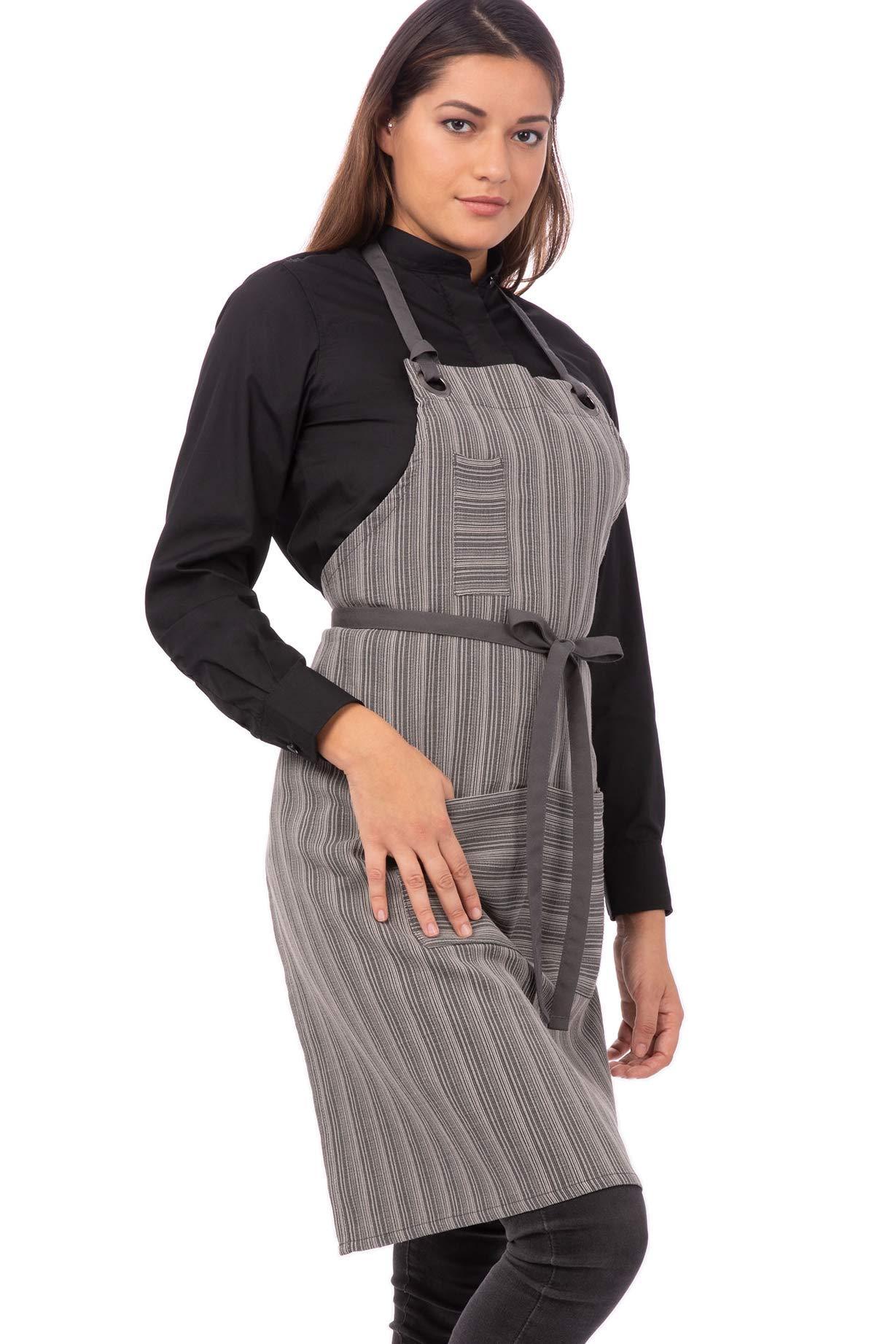 Chef Works Unisex Brooklyn Bib Apron, Dark Gray, One Size by Chef Works
