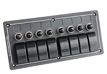 71tN9edX6XL._SX355_ amazon com bandc 8 gang aluminium bus marine boat bridge control  at fashall.co