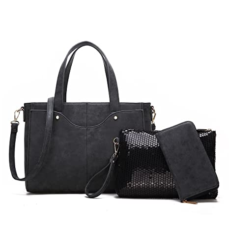 286454020074 Buy Structured Grey Purse Set