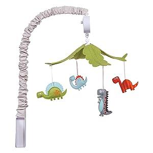 Trend Lab Musical Crib Mobile, Dinosaur, Baby Mobile, Nursery