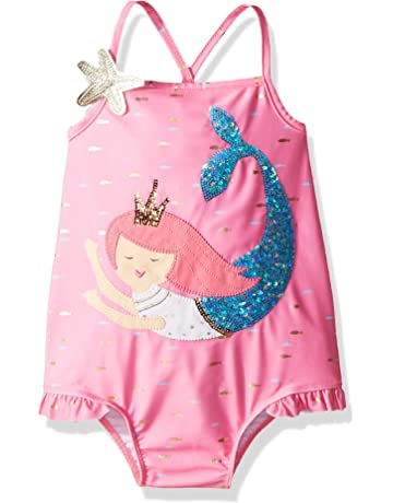 074bd35cf928c Mud Pie Baby Girls Mermaid Ruffle One Piece Swimsuit