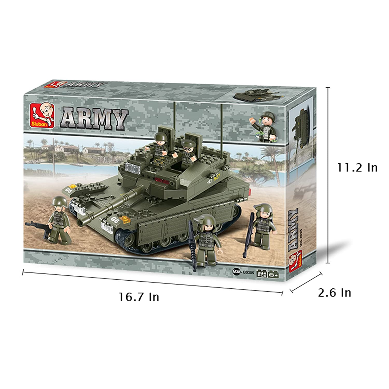 Buy New 2007 Products Sluban Merkava Tank 343 Pieces Building Blocks Schematic Set Multi Color Online At Low Prices In India