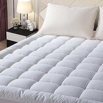 twin xl mattress pad amazon Amazon.com: EASELAND Quilted Fitted Mattress Pad (Twin XL  twin xl mattress pad amazon