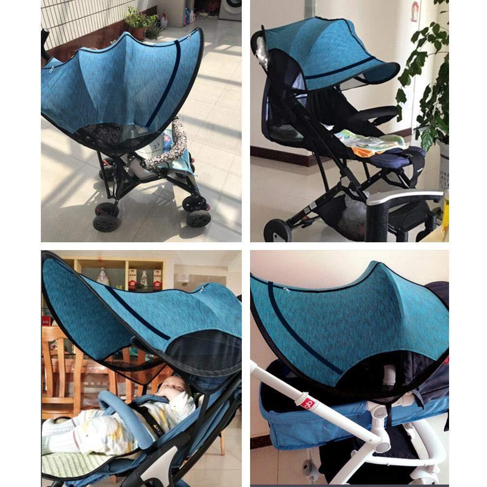 blue imperm/éable Poussette Protection solaire universel b/éb/é Poussette Pare-soleil avec protection UV coupe-vent
