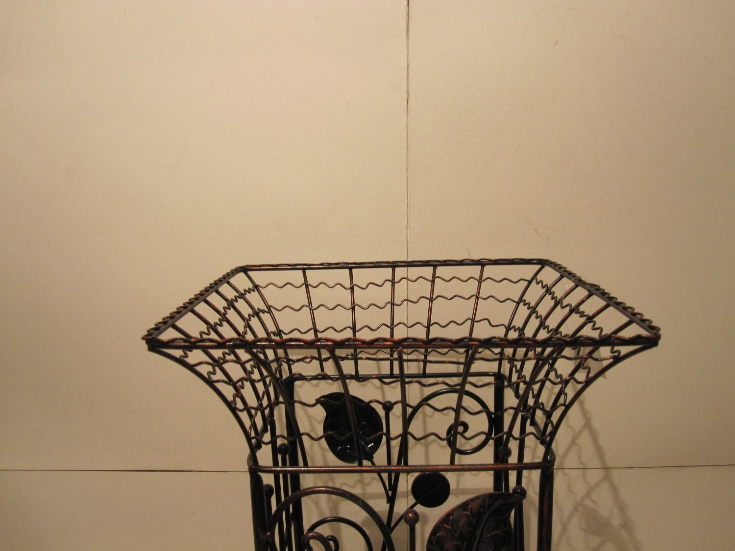 Square Metal Wrought Iron Umbrella Holder Stand, Antique Style Look UNITED DECOR 5079