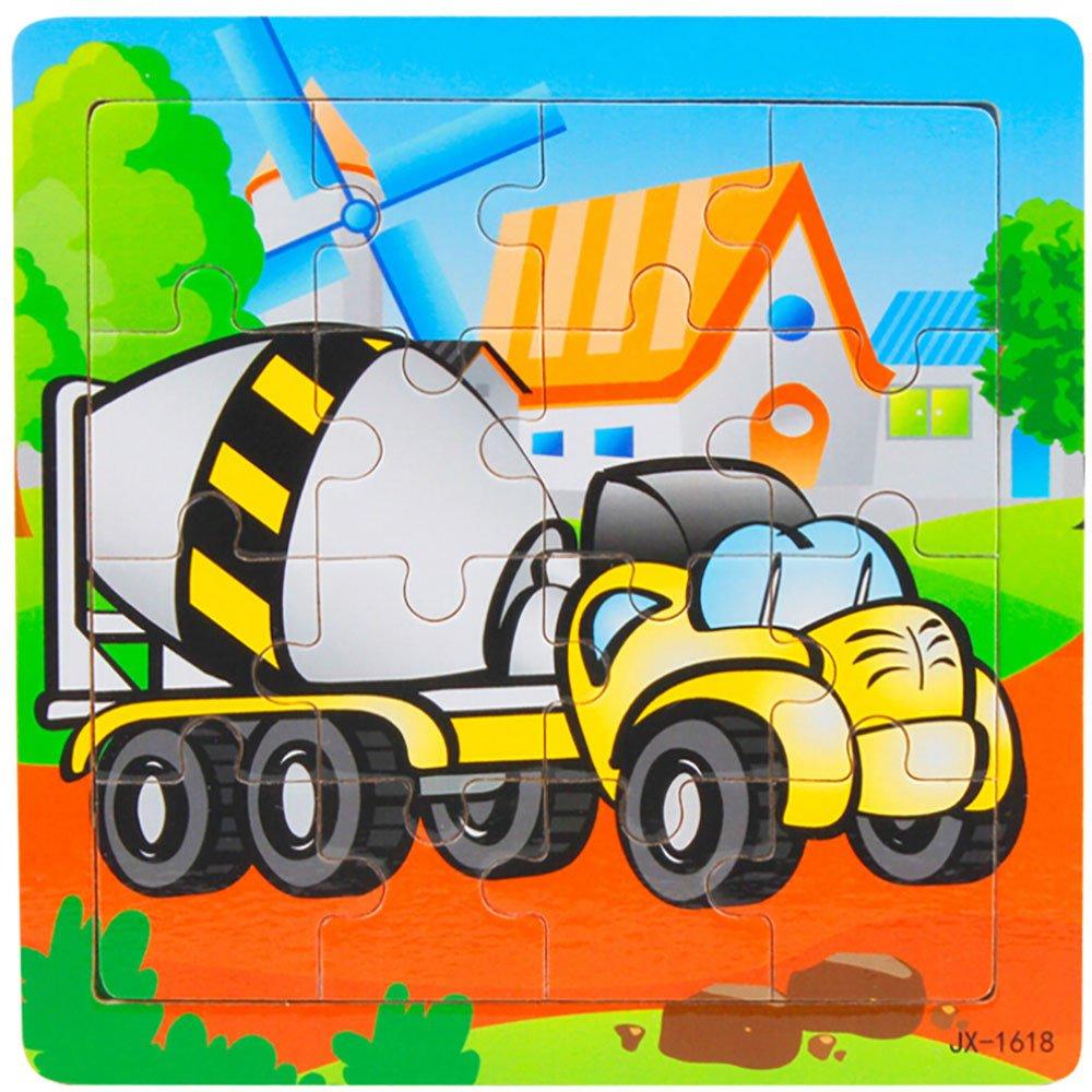 JIUZHOU Puzzle en bois 16 pi/èces pour les enfants de 1 /à 10 ans Casse-t/ête en bois /éducatif pour b/éb/é Cadeau Pour Les Enfants jouet de formation pour enfants
