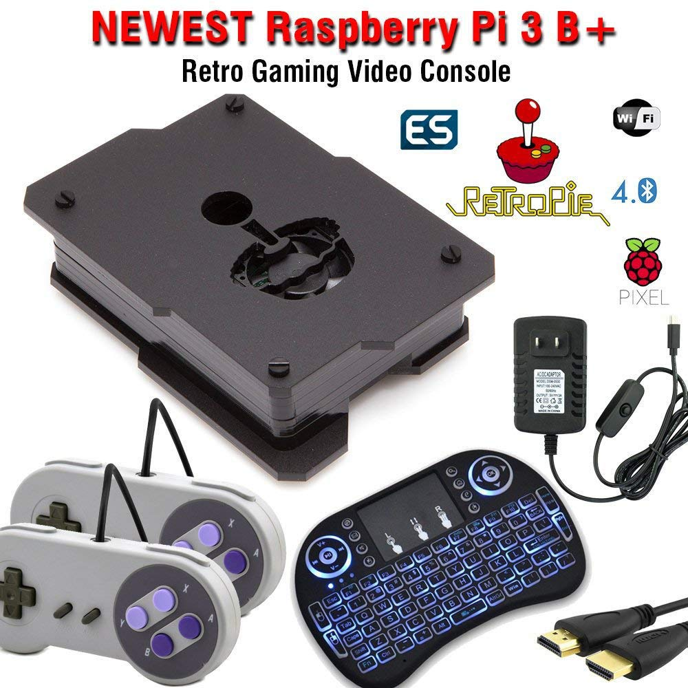64GB Retropie Raspberry Pi 3 Model B+ Retro Games Video Console Complete Build 50,000+ Games