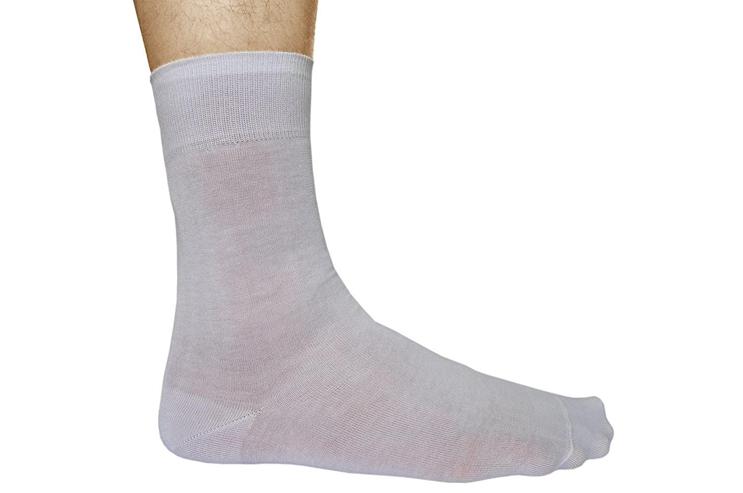 White Socks for Men 100 Cotton (3 PAIRS) Plain Thin Soft Comfy, Vitsocks Casual at Amazon Mens Clothing store: