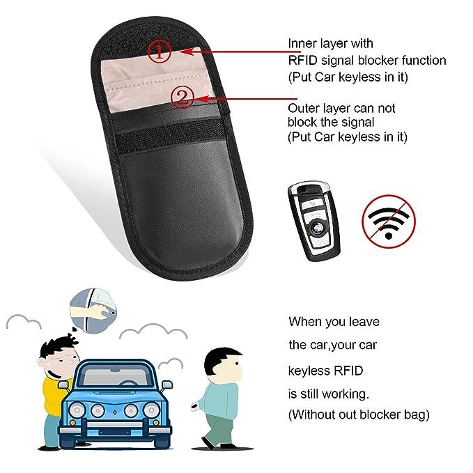 2 Strahlenschutz Tasche für Keyless Schlüssel, RFID Blocking Hülle ...