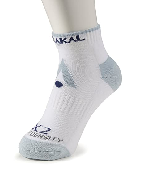 Karakal X2 técnica Zapatillas Calcetines, White/Grey - 3-6, Size 3