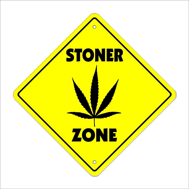 Amazon.com: Stoner Crossing Sign Zone Xing | Indoor/Outdoor | 12 ...