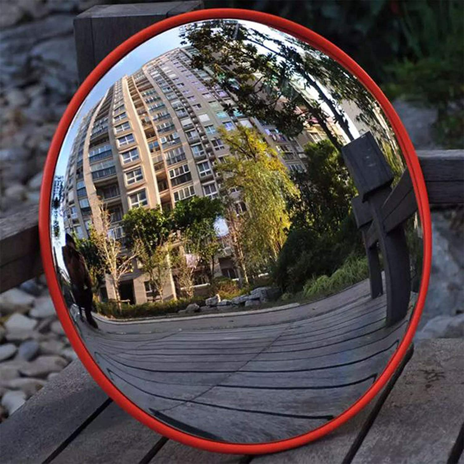 Shop Driveway 180/° View Wide Angle Convex Mirror Road Security Mirrors Observation Mirror Inspection Mirror 60cm for Traffic
