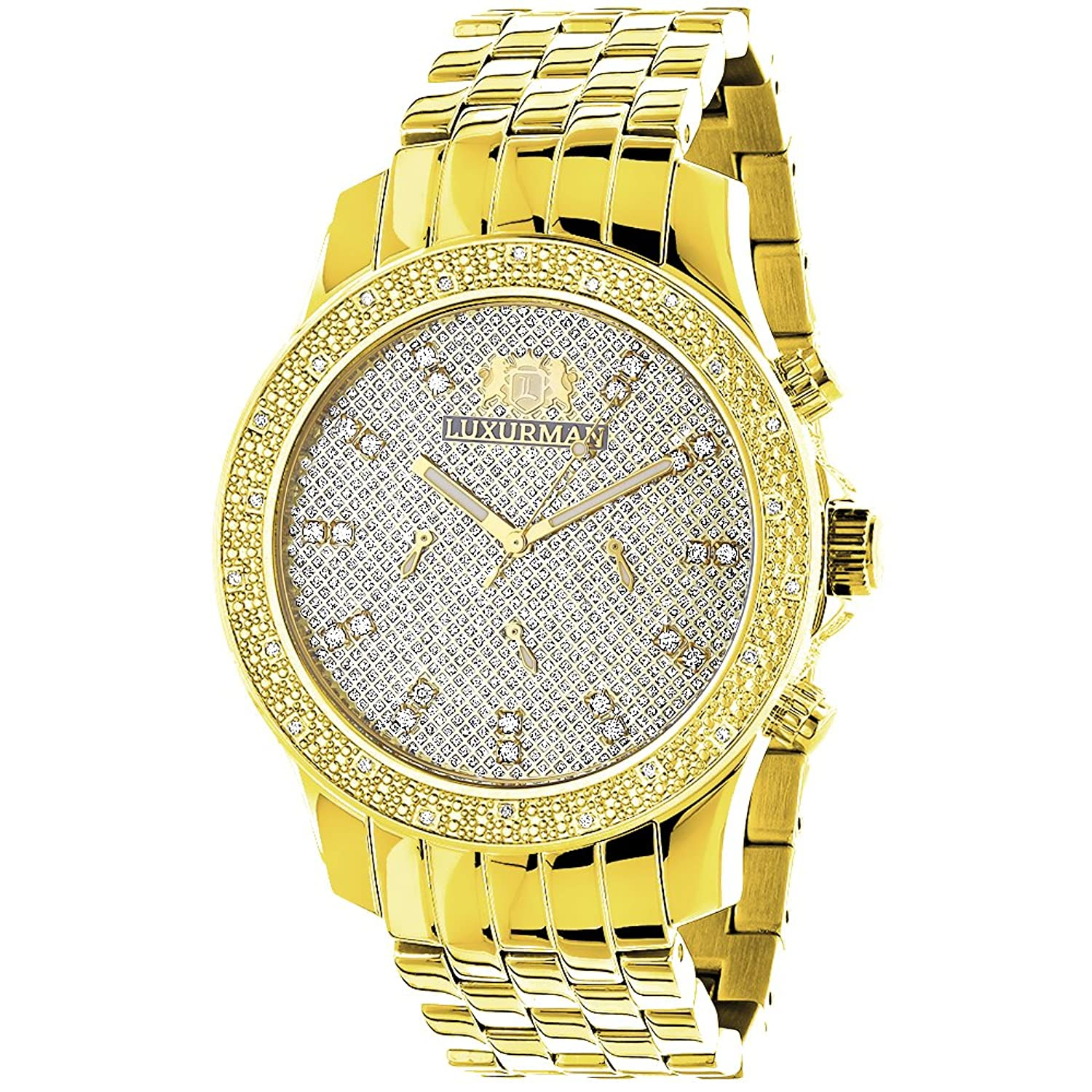 mens luxurman p diamond watch watches