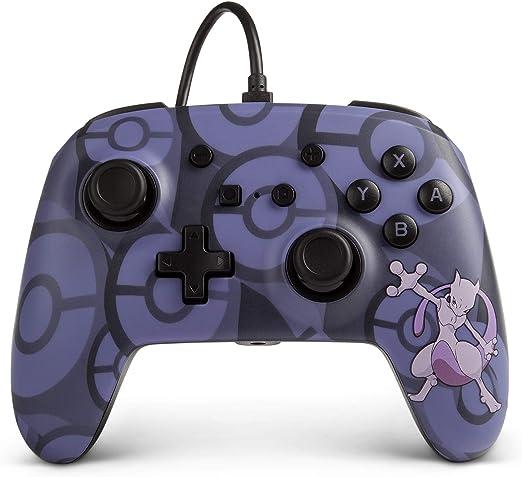 PowerA - Mando Con Cable, Salida De Audio Y Botones Programables Azul Pokemon Mewto (Nintendo Switch): Amazon.es: Videojuegos