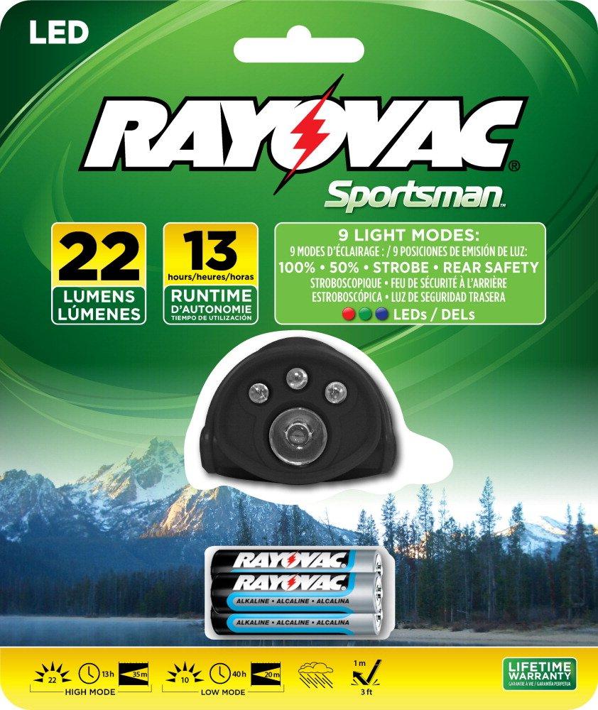 RAYOVAC Sportsman 22 Lumen 3AAA 5-LED Headlight with Batteries, SPHL3AAA-BA