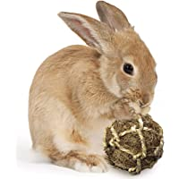 SunGrow Coconut Fiber Ball Rabbit Improves Dental Health - 100% Natural Chew Toy- Provides Hours Stimulation - Environment Friendly, Stress Reliever - Ideal Bunny, Chinchilla & Kitten
