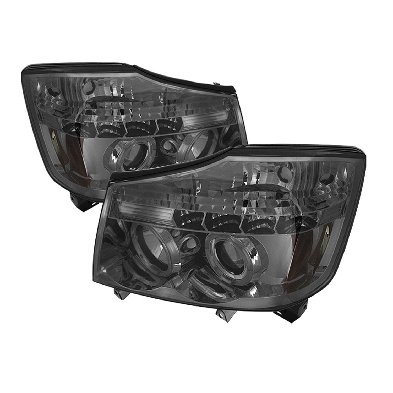 Spyder Led Halo Headlight Wiring Diagram Explained Diagrams Projector Headlights Amazon Com Auto Nissan Titan Armada Black Halogen Adjustment