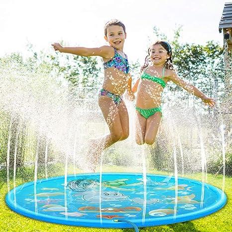 Splash Pad, 170CM Almohadilla de Juegos de Agua para Niños, Tapete Acuático, Jardín de Verano Juguete para Niños PVC, Aspersor de Juego para Actividades Familiares Aire Libre /Fiesta /Playa /Jardín: Amazon.es: Deportes