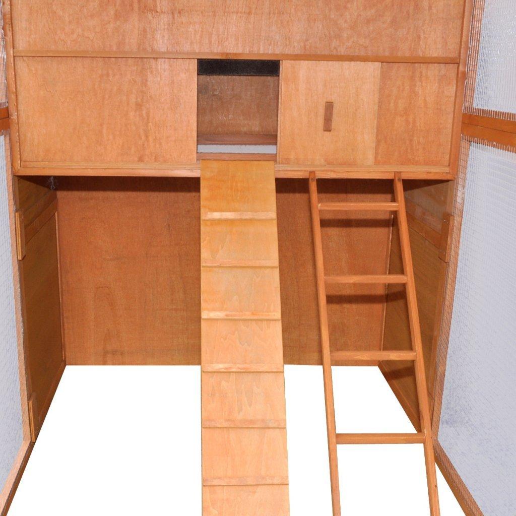 295x163x170 cm Festnight Gallinero Color de Marr/ón Material de Madera y Hierro