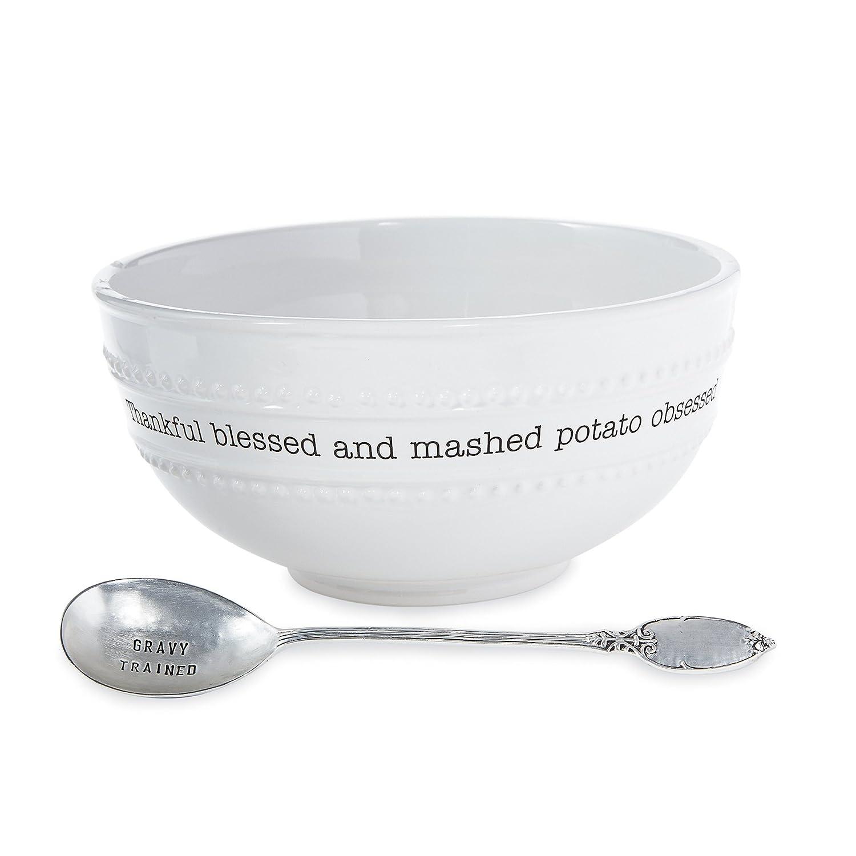 Mud Pie 4601108 Farmhouse Serving Bowl, White