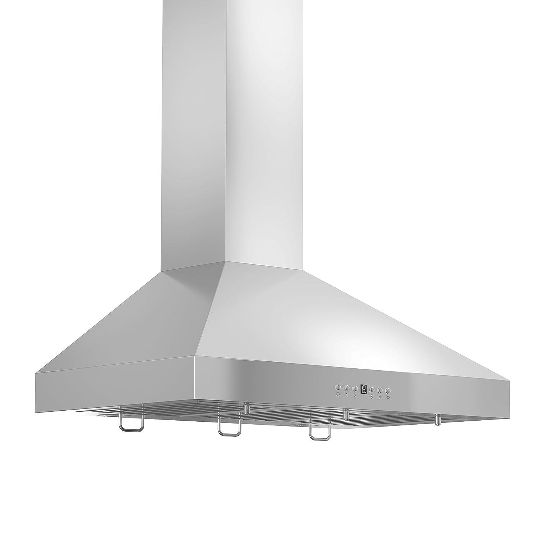 ZLINE 36 in. 400 CFM Wall Mount Range Hood in Stainless Steel (KL3-36-400) ZLINE Kitchen and Bath