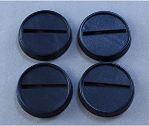1in Round Plastic Miniature Gaming Base with Slot (Pack of 18) Reaper Miniatures