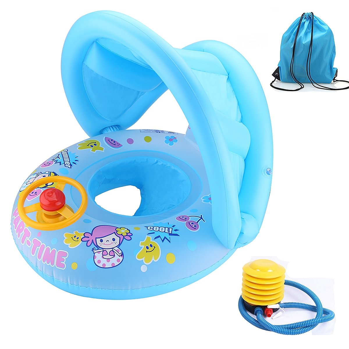 Baby Swim Ring Inflatable Seat Boat Safety Children Toddler Aid Bath ...