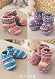Sirdar Baby Crofter DK Boots, Shoes & Booties Knitting Pattern 1483