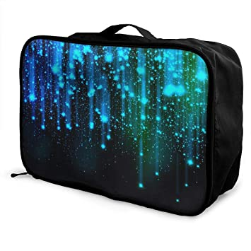 Travel Luggage Duffle Bag Lightweight Portable Handbag Neon Girl Pattern Large Capacity Waterproof Foldable Storage Tote