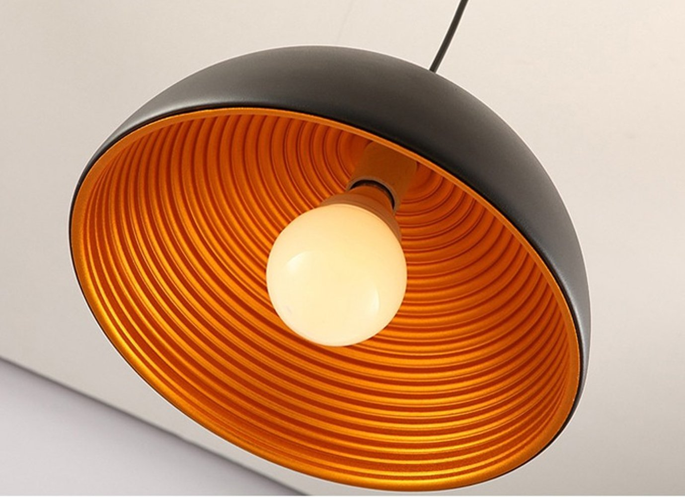 Plafoniere Industriali Diametro 30 : Semicerchio plafoniera lampada a sospensione industriale lampadario
