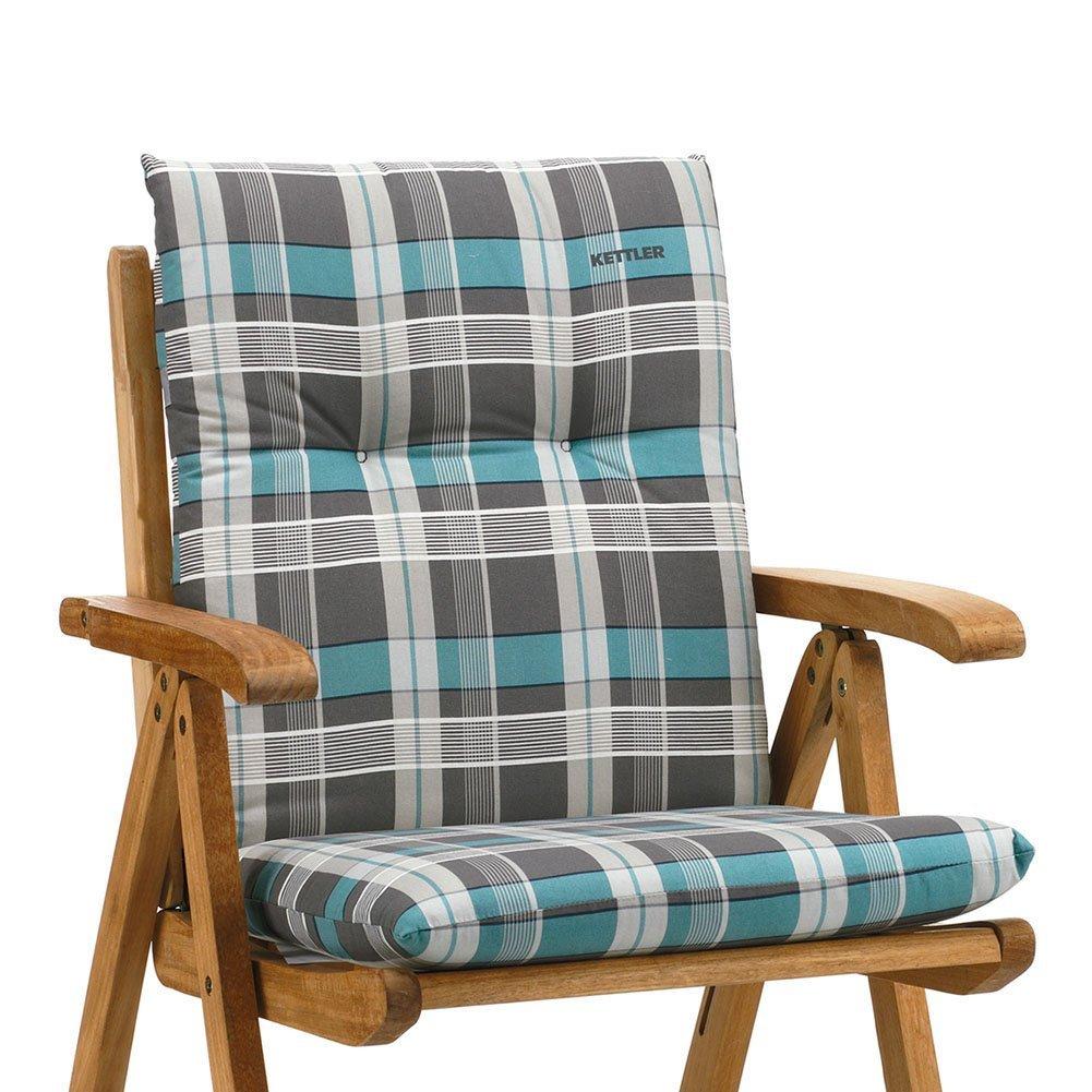 6 Kettler Gartenmöbel Auflagen für Niederlehner Sessel Dessin 770 in blau