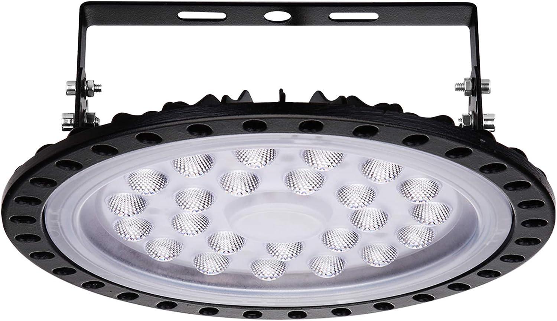 100W UFO High Bay LED Light Warehouse fixture factory shop lighting 6500K IP65