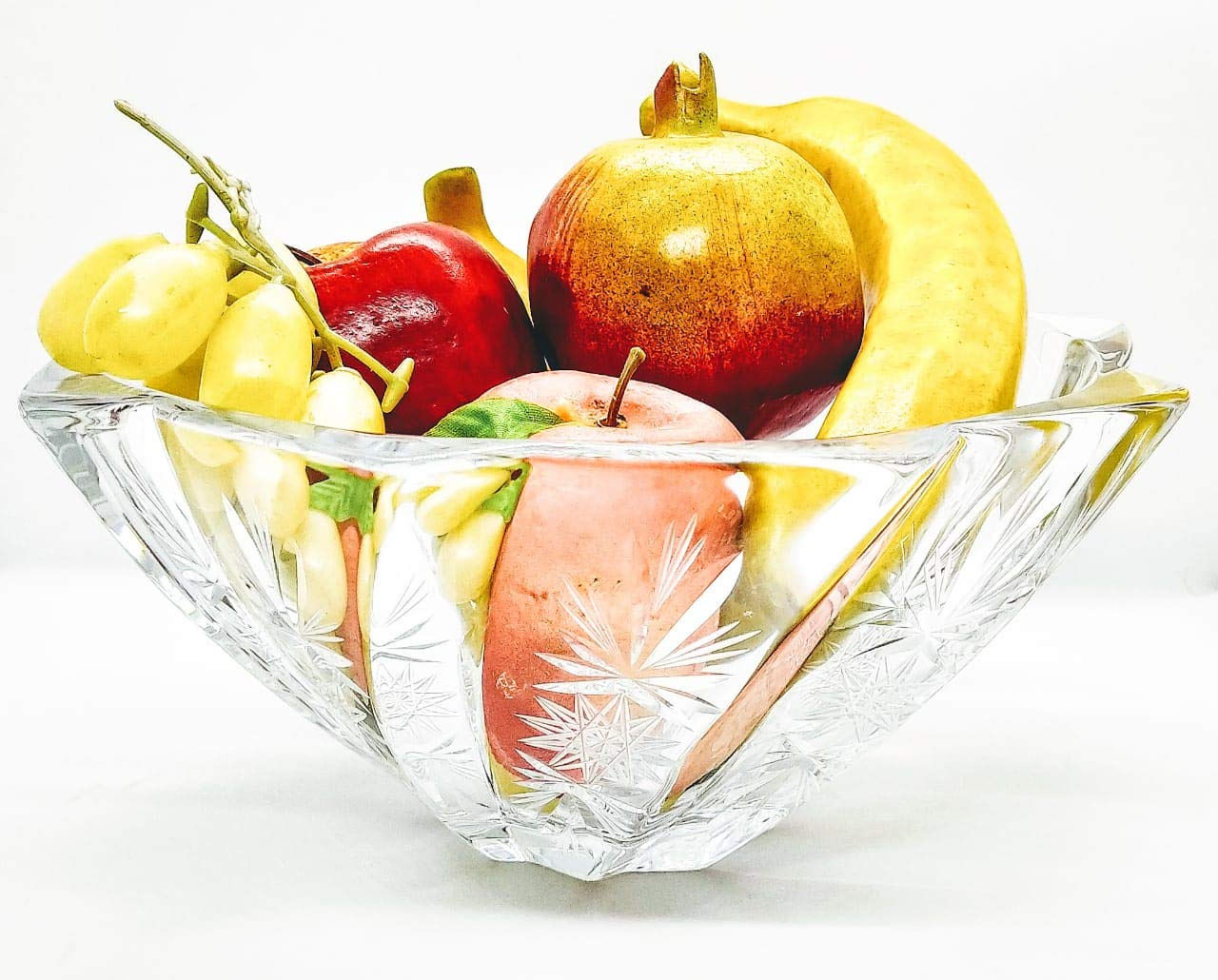 Buy Elido Antique Hand Cut Crystal Glass Fruit Bowl Exclusive Luxury Beautiful Designer For Dining Table Living Room Office Gifting Centerpiece And Wedding Gift Online At Low Prices In India Amazon In