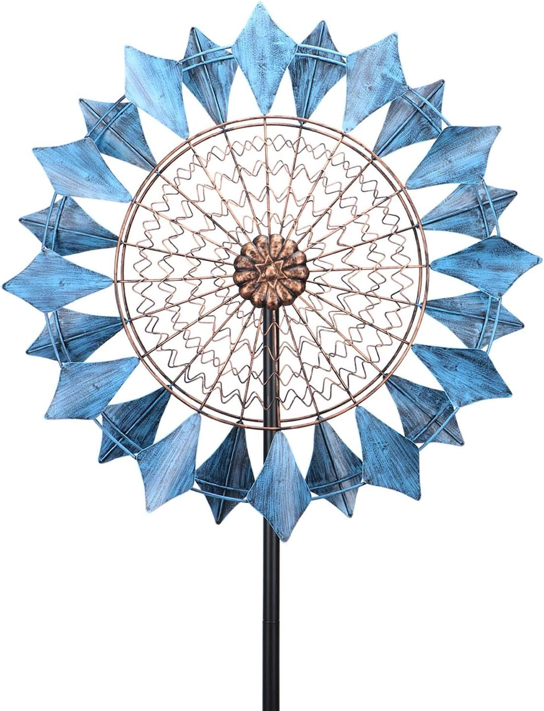 """Wind Spinner 24"""" Wind Sculptures 360 Degrees Double-Sided Decorative for Patio Lawn and Garden Let You Feel Different Visual Effects and Relax Your Mood"""