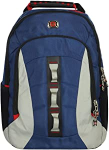 SwissGear Skyscraper 16 Inch Deluxe Laptop Backpack with Tablet/eReader Pocket - Blue/Grey