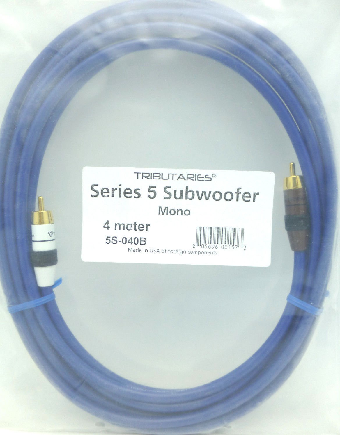 Amazon.com: Tributaries Series 5 Subwoofer Cable 4 meters Model 5S ...