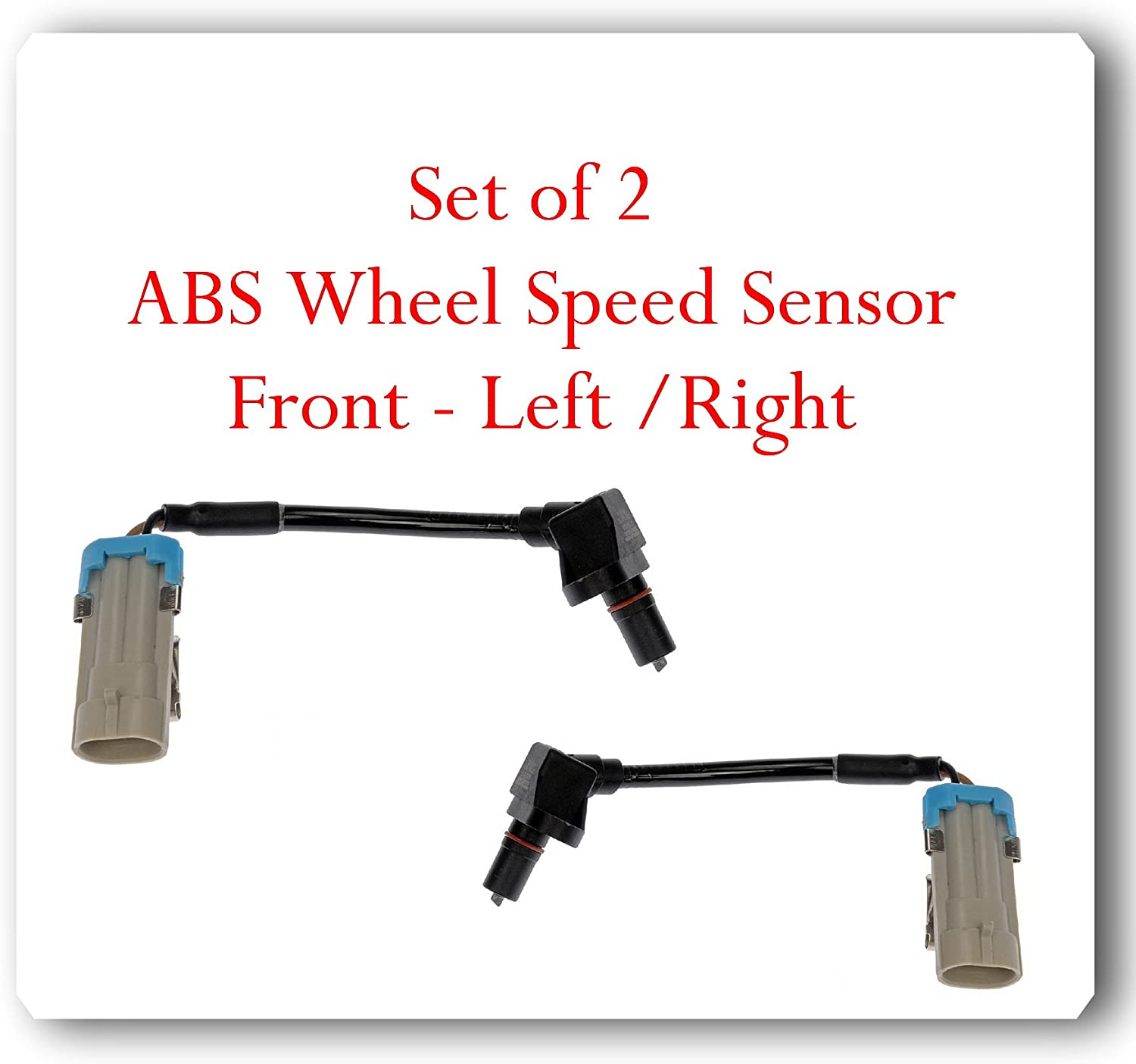 2006 Pontiac Torrent ABS Wheel Speed Sensor Front Left and Right ALS1344 For 2002-2007 Saturn Vue 2005-2006 Chevy Equinox