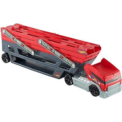 Méga Pour Hot Transporter Transporteur Et Rouge Wheels NoirCamion Lq534AjR