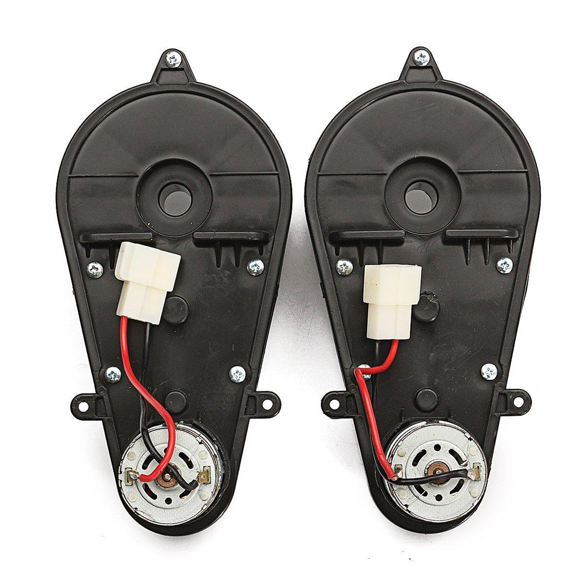 Alamor 12V 23000Rpm Elektrischer Motor Getriebekasten F/ür Kinder Fahren Auto Spielzeug Ersatzteil