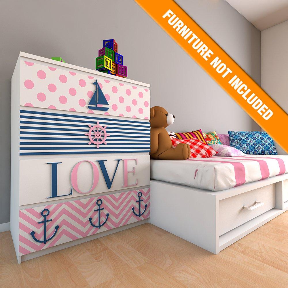 Ahoy Its A Girl - Girl Nursery Decor - Girls - Fretwork Panels - Kids Bedroom Decor - Children Decor - Childrens Furniture