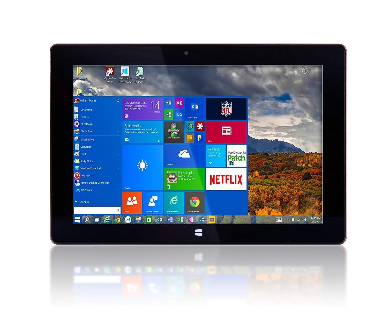 10'' Fusion5 Ultra Slim Windows Tablet PC- (2GB RAM, 64GB Storage, Full Size USB 3.0, Intel Quad-core, Dual Cameras, HDMI, Bluetooth, Windows 10 Home Tablet Computer)