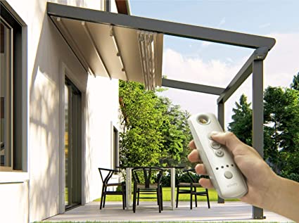 Schildr, Easy to Assemble Aluminum Motorized Pergola Roof Kit, Retractable  Awnings System with Dimmable - Amazon.com: Schildr, Easy To Assemble Aluminum Motorized Pergola