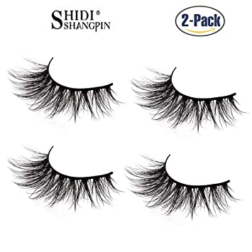 77b454c1a02 SHIDI SHANGPIN 2 pair 3D Natural Handmade False Eyelashes Crisscross  Reusable For Makeup Eyelashes Extension Thick
