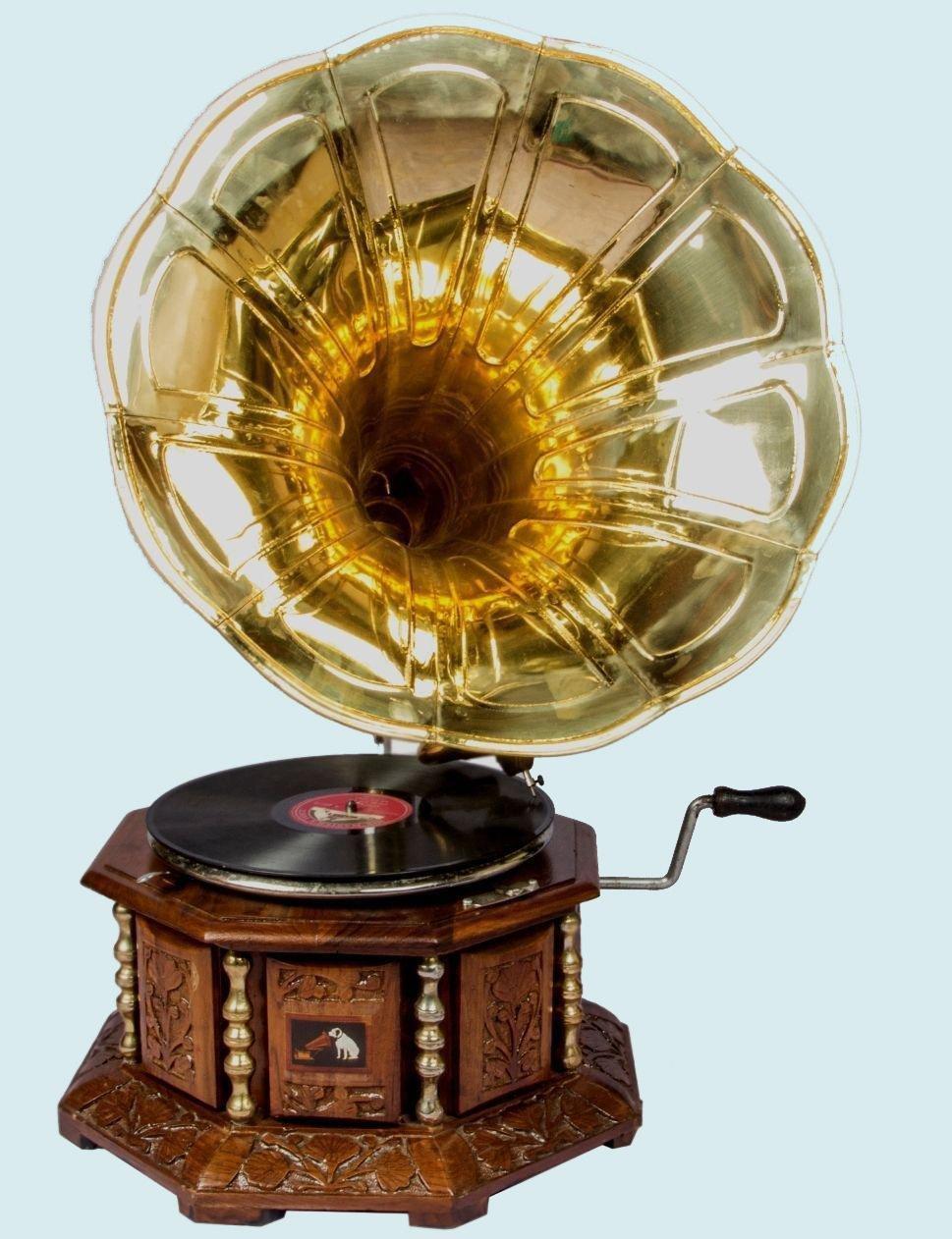 新しいエルメス 骨董品Worldヴィンテージ8 Phonograph Side HMVアンティーク真鍮Gramaphone古い音楽Winding Phonograph B073SZWZ41 awusahb Side 020 B073SZWZ41, フッサシ:f5f81975 --- mrplusfm.net