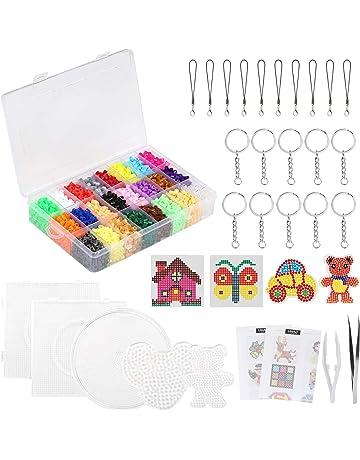 LIHAO 7000 Mini Cuentas y Abalorios Plásticos Cuentas para Planchar de 24 Colores para DIY Manualidad