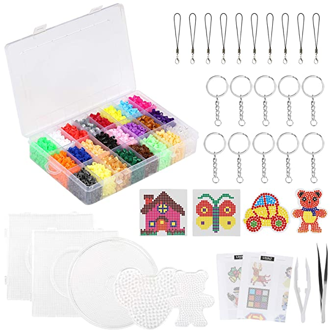 Amazon Com 7000x Fuse Beads 24 Color Fuse Beading Kit For Kids