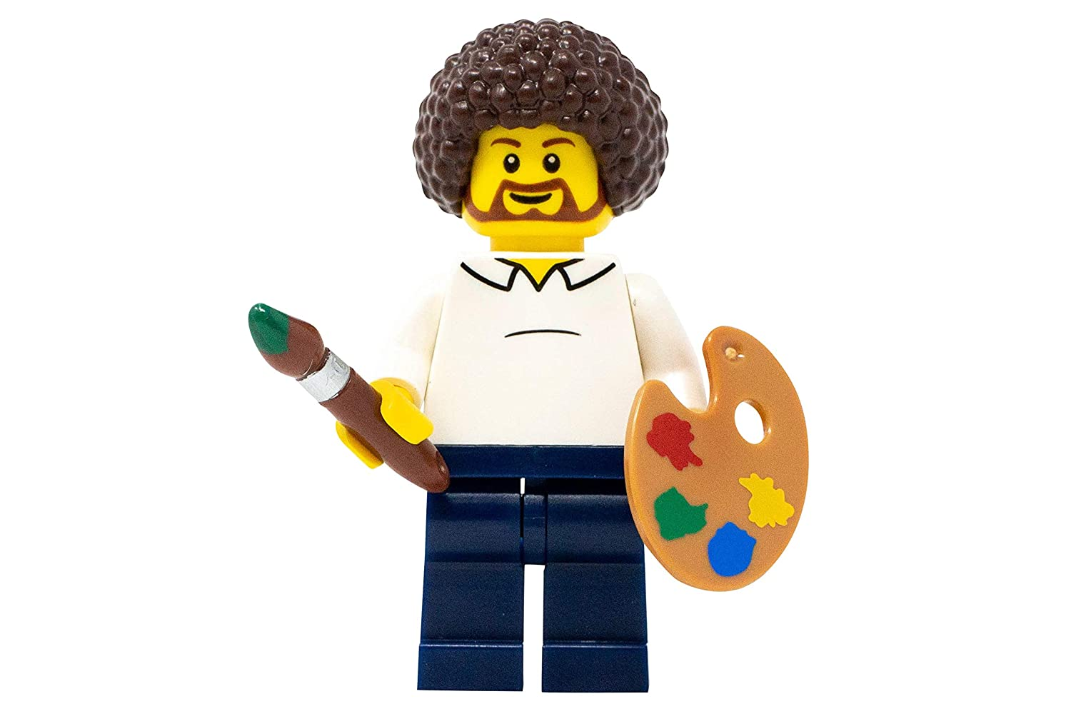 4 X 1 PAINT BRUSH FOR THE ARTIST FROM SERIES 4 PARTS LEGO-MINIFIGURES SERIE