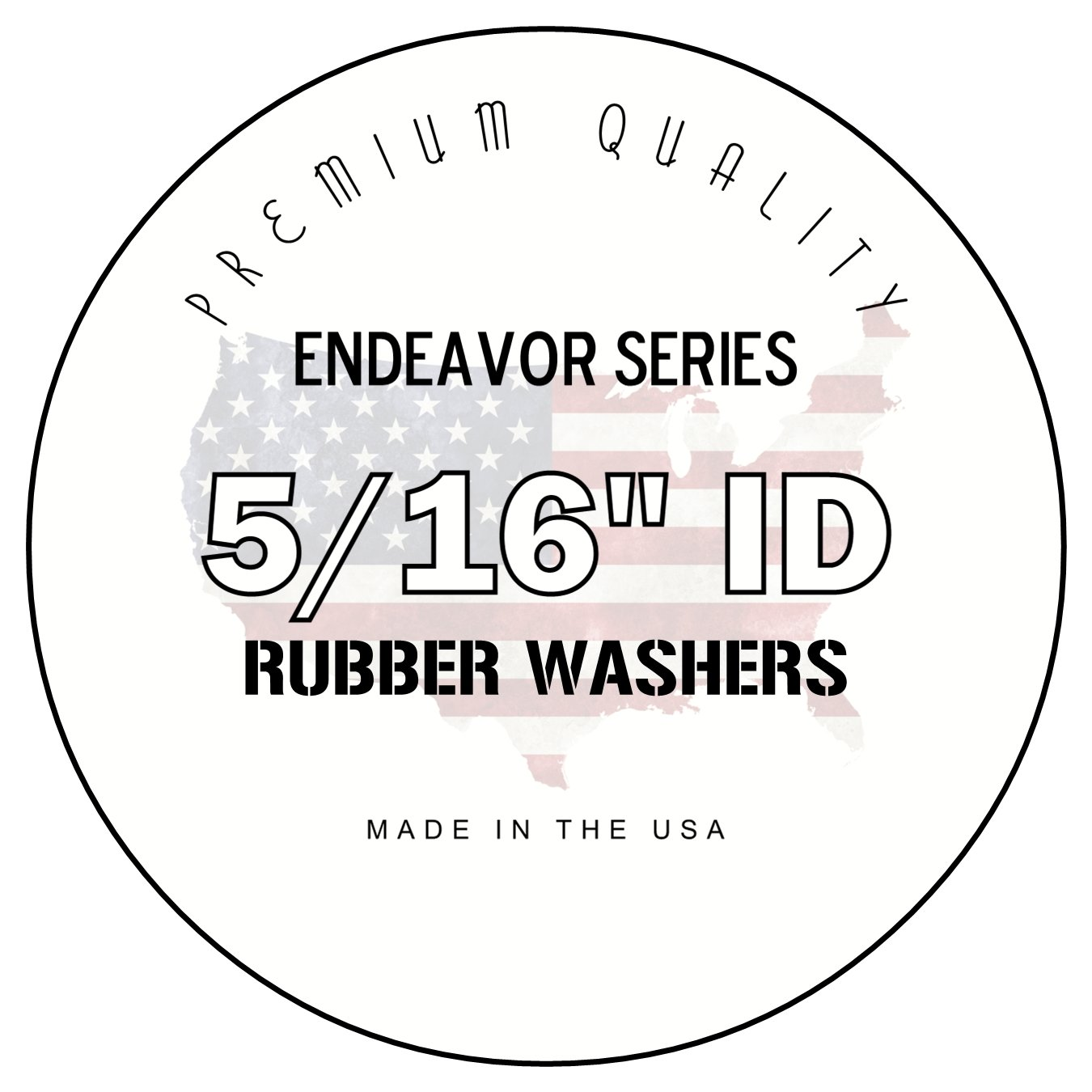 Amazon Com 25 Rubber Fender Washers 1 1 4 X 5 16 X 1 16 Inch