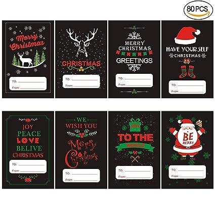 amazon com jumbo christmas self adhesive wrap tags stickers with