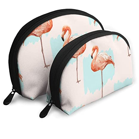 62e26127531d Amazon.com: SJ104B 2 PCS Beautiful Pink Flamingo Pattern Toiletry ...